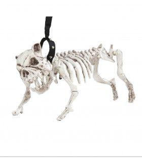 Horror Huisdier Skelet Hond Met Riem, 45cm