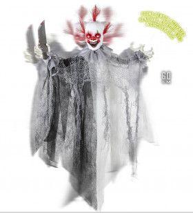 Horror-Deco Animatie Killer Clown Met Lichtgevende Ogen En Geluid