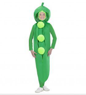 Erwt Groen & Gezond Kind Kostuum