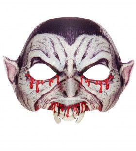 Halloween Halfmask Kinloos Vampier Masker