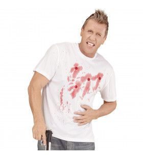 Bloederig Shirt Kogelgaten Man