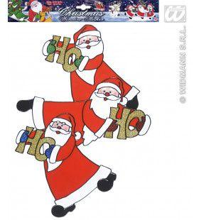Verticale Kerstman Stickers 40cm