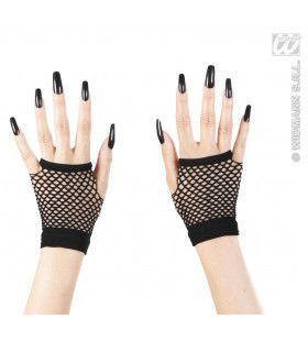 Vingerloze Zwarte Nethandschoenen