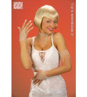 Witte Gebogen Armband