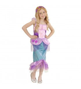 Pastel Zeemeermin Meisje Kostuum