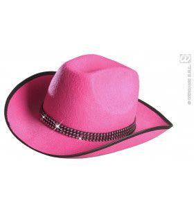 Cowboyhoed Roze Met Strass Band