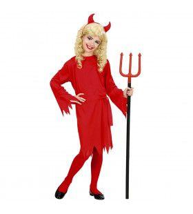 Schattig Duivel Meisje Rood Kind Kostuum
