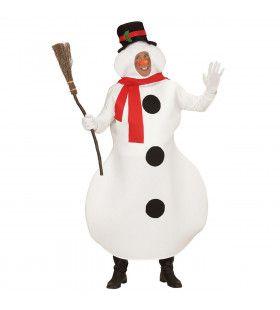 Mascotte Sneeuwpop Man Kostuum
