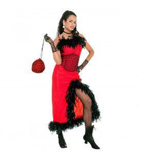 Verleidelijke Saloon Madame XL Kostuum Vrouw