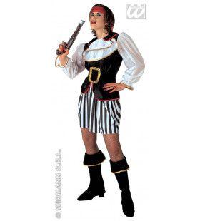 Piratendame Luxe Caribbean Kostuum Vrouw