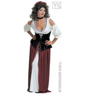 Klassieke Herbergierster Kostuum Vrouw