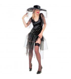 Pittige Weduwe Black Widow Kostuum Vrouw