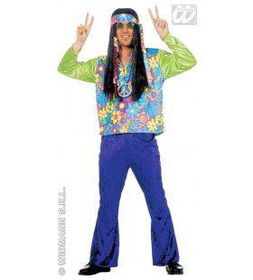 Hippie Man, Fluweel Mr Green Kostuum