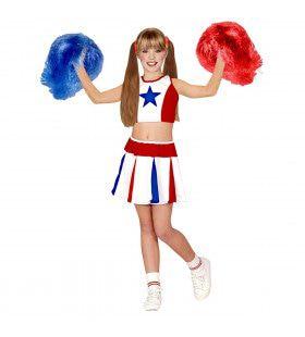 All American Cheerleader Kind Kostuum Meisje