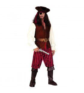 Piraat Hoge Zeeen Bandido Kostuum Man