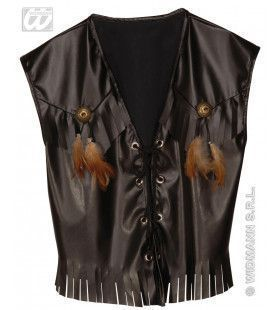 Rocker / Biker Vest, Lederlook
