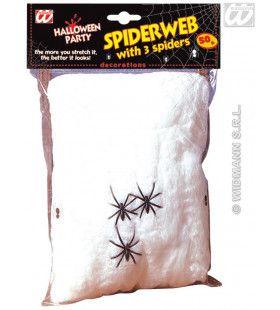 Spinnenweb 50gram Met 3 Spinnen