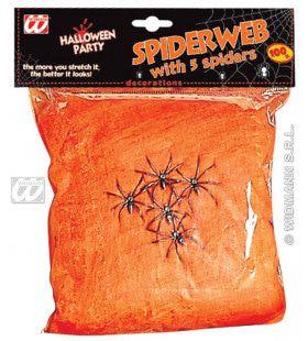 Spinneweb Rood, 100gram Met 5 Spinnen