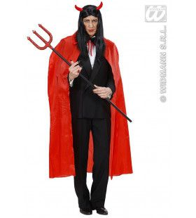 Rode Cape 130cm Kostuum