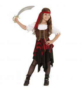 Boekanier Killer Piratenmeisje Kostuum