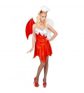 Engel-Duiveltje Dark Angel Kostuum Vrouw
