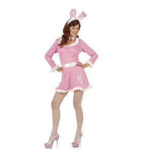 Pink Bunny Roze Kostuum Vrouw