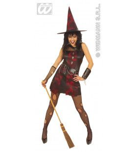 Punkheks Crazy Witch Kostuum Vrouw
