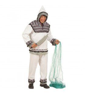 Eskimo, Flanel Inuit Kostuum Man