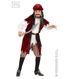 Carribean Piratenjongen Jack Sparrow Kostuum