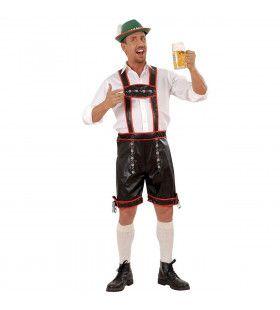 Traditionele Lederhose Lederlook Kostuum Man