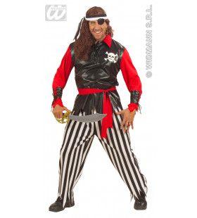 Piratenheer Fiberoptisch Eenoog Kostuum Man