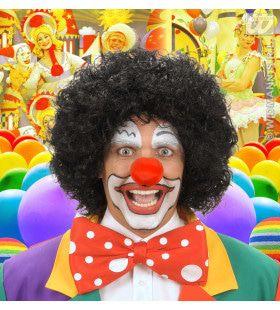 Pruik, Clown Zwart