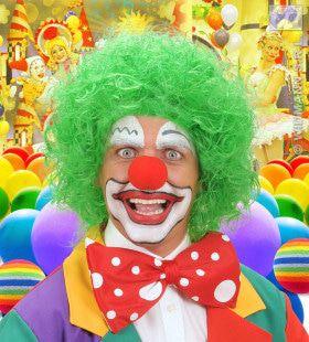 Pruik, Clown Groen