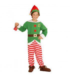 Elf Boy Kerstmans Kleine Helper Jongen Kostuum