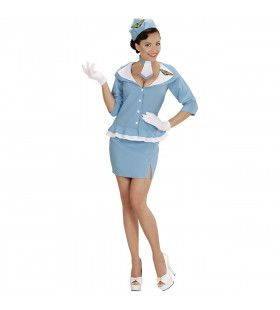 Pan-Am Retro Stewardess Vrouw Kostuum