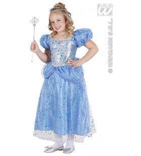 Prinses-Fee Blauw Blue Fairy Kostuum Meisje