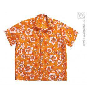 Hawaii Shirt Oranje Man Kostuum