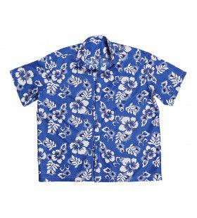 Hawaii Shirt Blauw XL Man