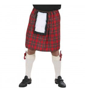 Schotse Kilt Rode Ruiten Man