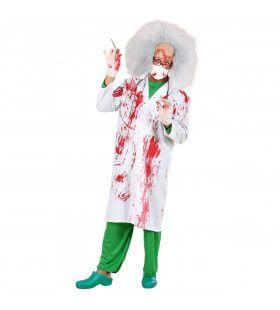 Bloederige Doktersjas Dr Horror Kostuum Man