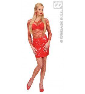 Visnetshirt Rood Dames Vrouw