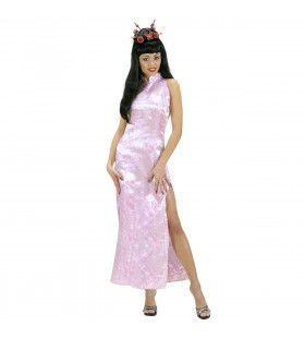 Chinese Dame Roze Pink Orient Kostuum Vrouw