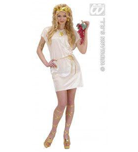 Griekse Of Romeinse Tuniek Beige Met Gouden Riem Kostuum
