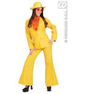 Neon Geel, Dame Party Fever Girl XL Kostuum Vrouw