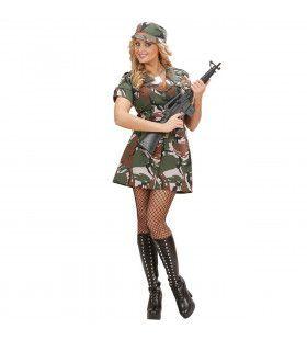 Soldatenmeisje Amerikaanse Leger Soldier Hotlady Kostuum Vrouw