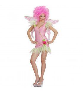 Sexy Roze Elfje Funky Fairy Kostuum Vrouw