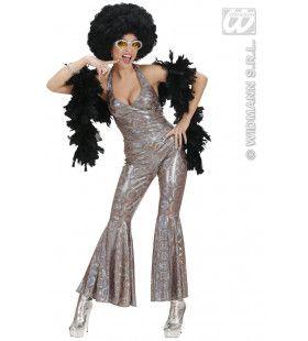 70s Disco Queen Holografisch Fever Girl Kostuum Vrouw