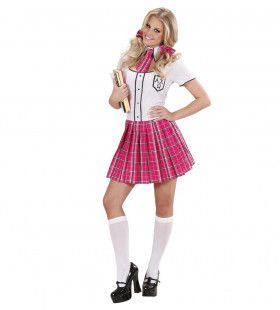Highschool Schoolmeisje Kostuum Vrouw