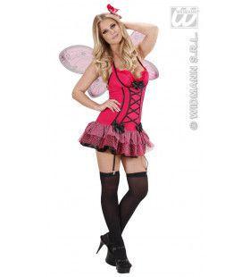 Sexy Vlinder Rose Kostuum Vrouw