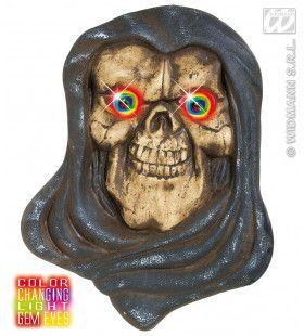 Hoofd Grim Reaper Met Meerkleurig Licht